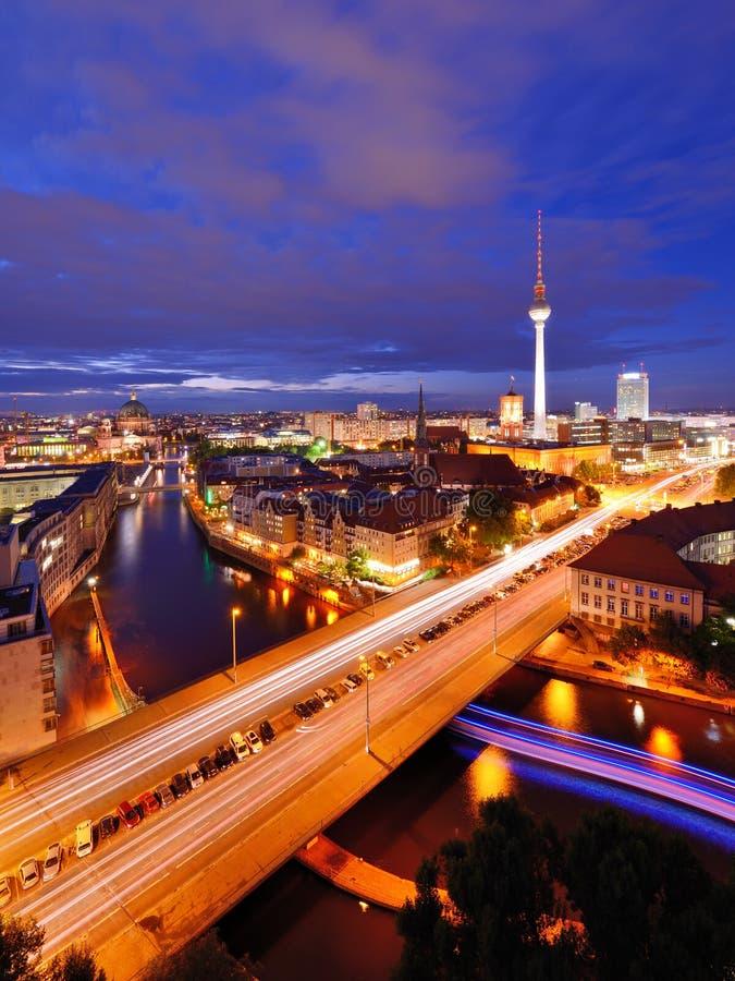 Εικονική παράσταση πόλης του Βερολίνου στοκ εικόνα