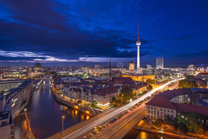 Εικονική παράσταση πόλης του Βερολίνου στοκ φωτογραφίες
