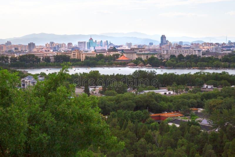 Εικονική παράσταση πόλης του Πεκίνου κεντρικός άνωθεν στοκ φωτογραφίες με δικαίωμα ελεύθερης χρήσης