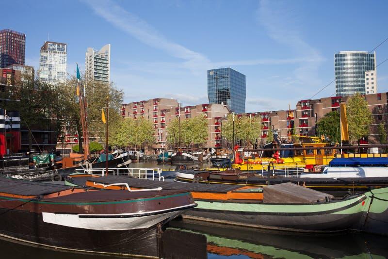 Εικονική παράσταση πόλης του Ρότερνταμ στις Κάτω Χώρες στοκ εικόνα