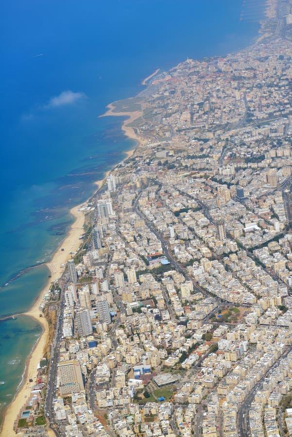 Εικονική παράσταση πόλης του Τελ Αβίβ, Ισραήλ στοκ εικόνες
