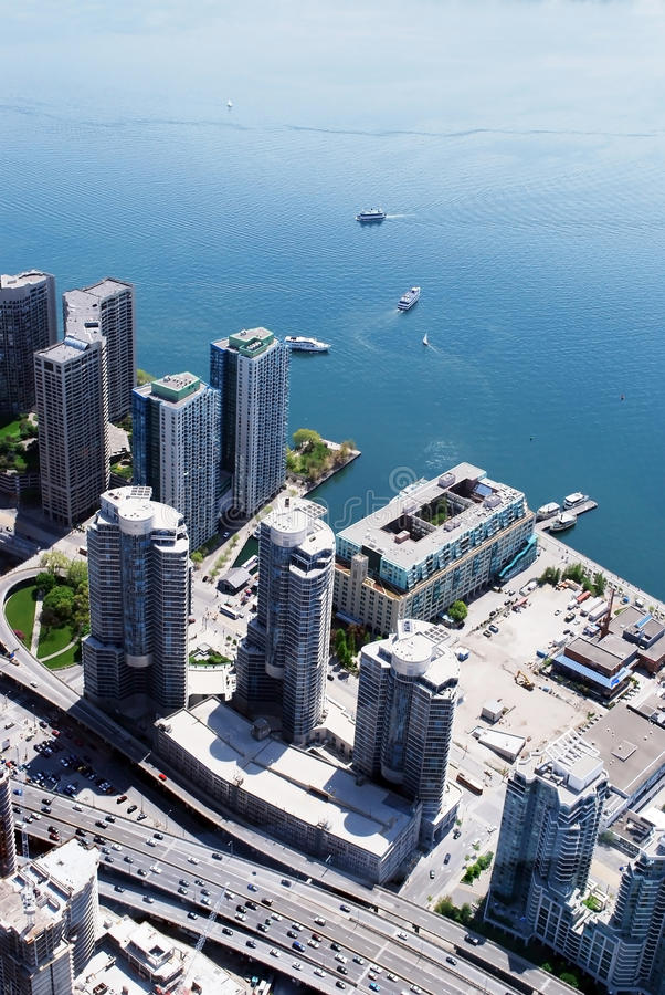 Εικονική παράσταση πόλης του Τορόντου Καναδάς στοκ εικόνα