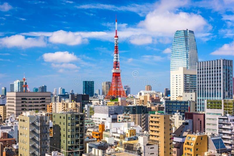Εικονική παράσταση πόλης του Τόκιο Ιαπωνία στοκ φωτογραφία