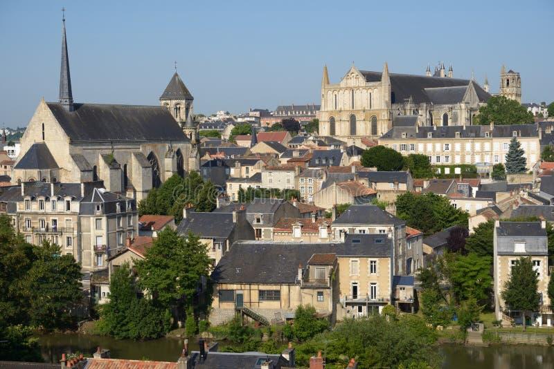 Εικονική παράσταση πόλης του Poitiers, Γαλλία στοκ εικόνες με δικαίωμα ελεύθερης χρήσης
