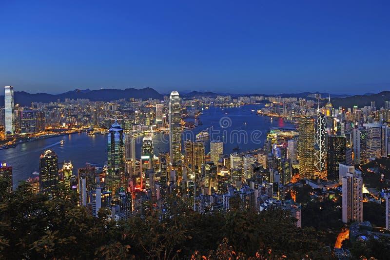 Εικονική παράσταση πόλης Χονγκ Κονγκ στοκ εικόνες