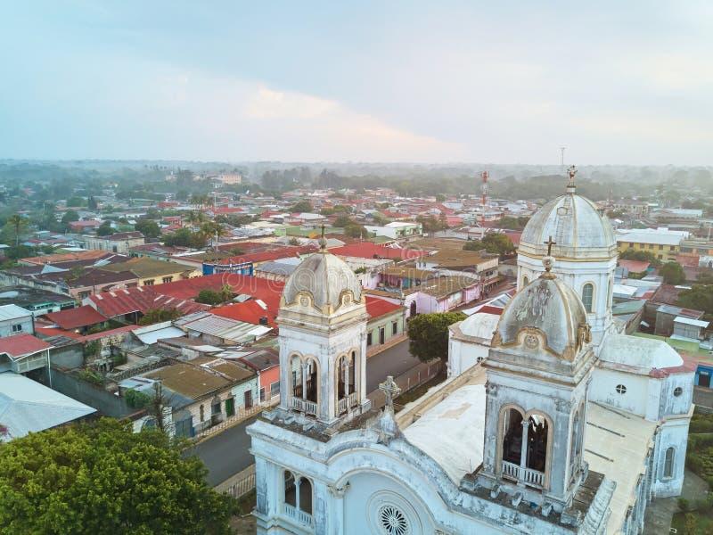 Εικονική παράσταση πόλης Diriamba στη Νικαράγουα στοκ εικόνες