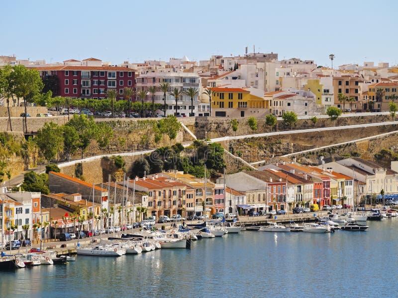 Εικονική παράσταση πόλης Mahon σε Minorca στοκ εικόνες