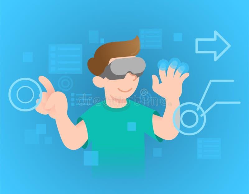 Εικονική πραγματικότητα διανυσματική απεικόνιση