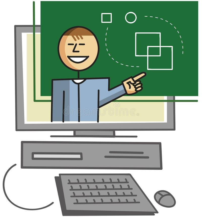 Εικονικός δάσκαλος διανυσματική απεικόνιση