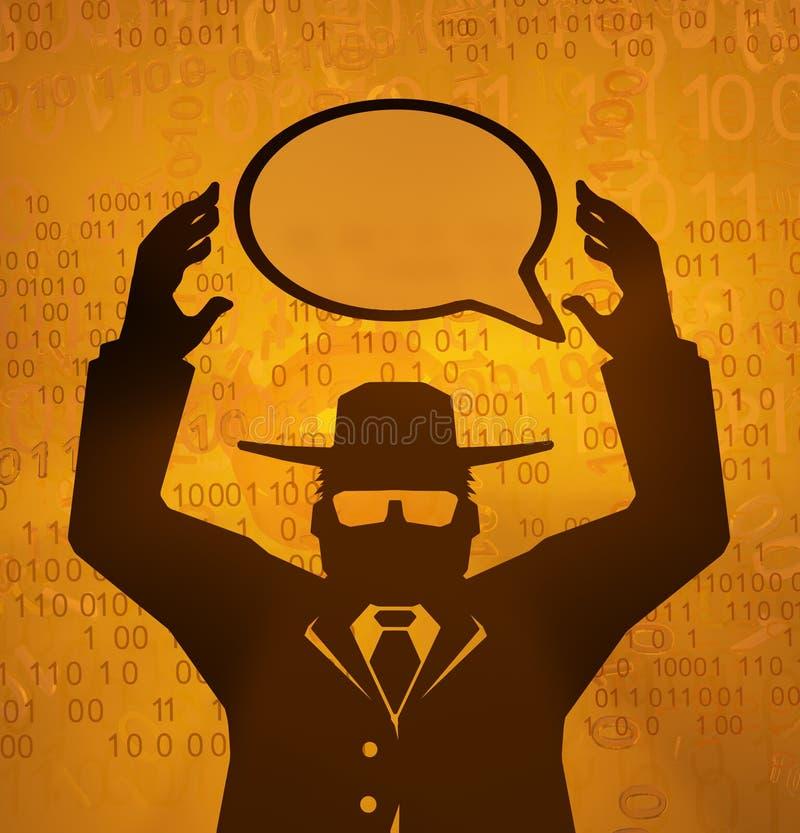 Εικονικός κατάσκοπος, έλεγχος ομιλίας ελεύθερη απεικόνιση δικαιώματος