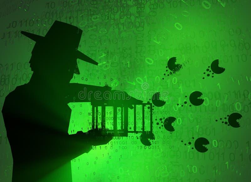 Εικονικός κατάσκοπος, απελευθέρωση Malware ελεύθερη απεικόνιση δικαιώματος