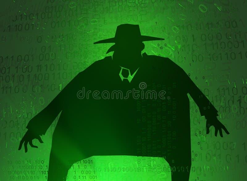 Εικονικός μεγάλος κατάσκοπος διανυσματική απεικόνιση