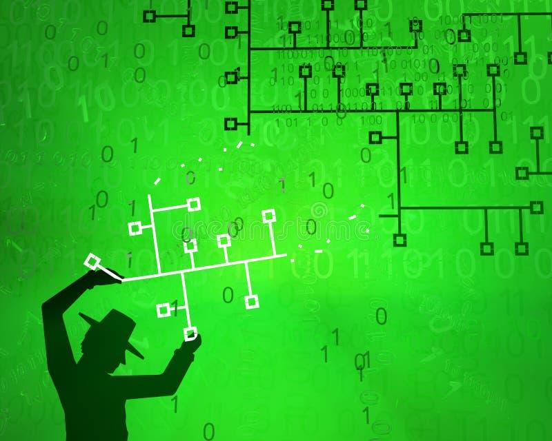 Εικονικός σπάζοντας κατάσκοπος συστημάτων ελεύθερη απεικόνιση δικαιώματος