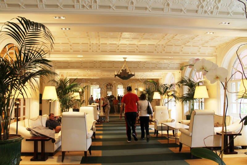Εικονικό κλασικό ξενοδοχείο της νότιας Φλώριδας στοκ φωτογραφίες