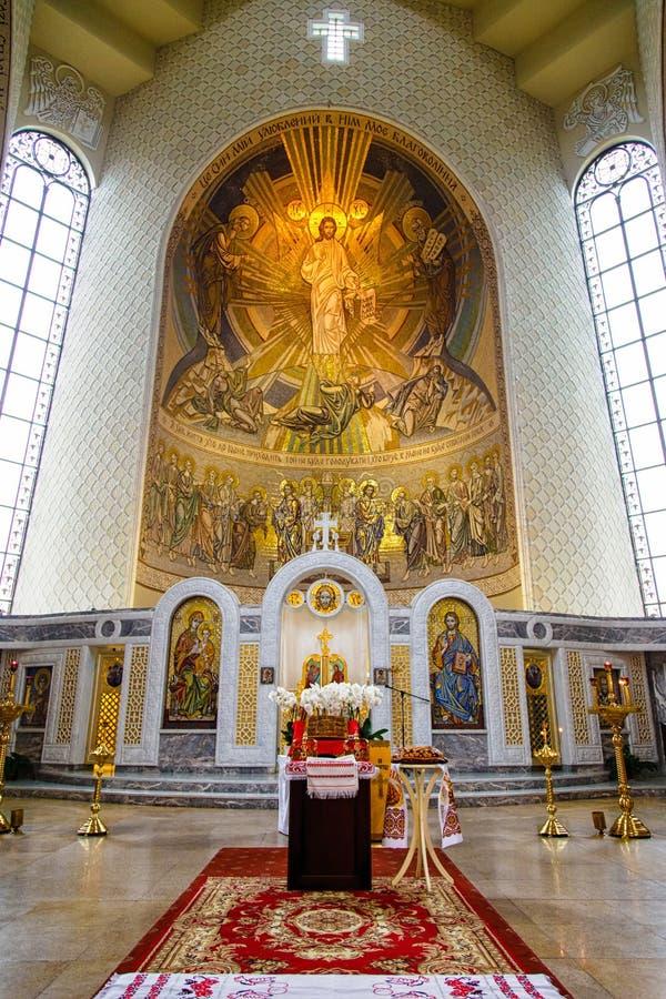 Εικονοστάσιο στον ορθόδοξο καθεδρικό ναό στοκ εικόνες με δικαίωμα ελεύθερης χρήσης