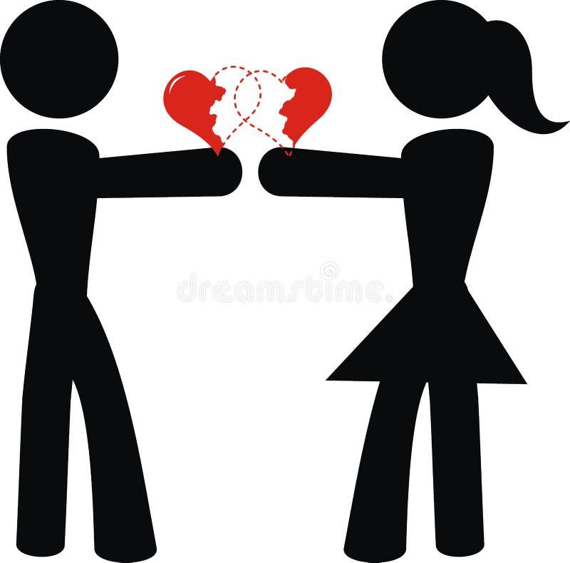 εικονόγραμμα αγάπης ελεύθερη απεικόνιση δικαιώματος