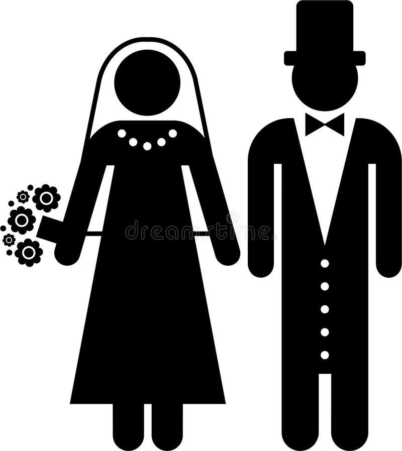 εικονόγραμμα γάμου διανυσματική απεικόνιση