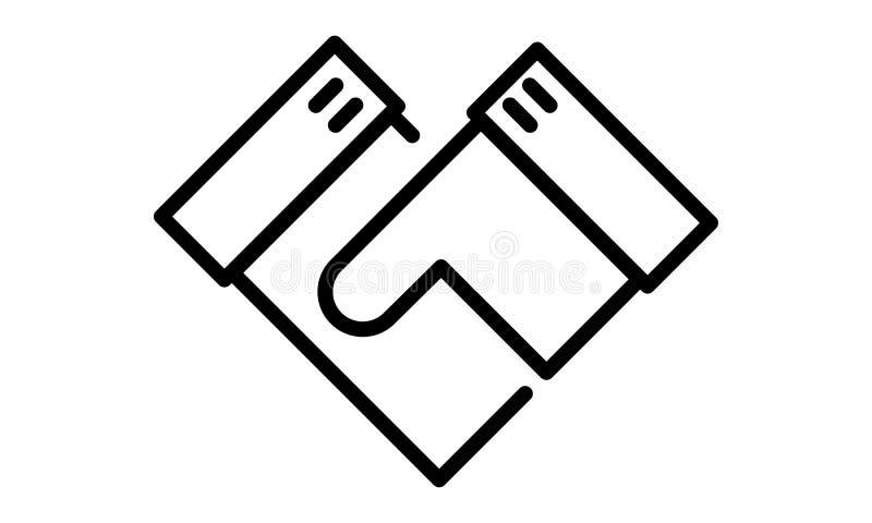 Εικονόγραμμα - χειραψία, διαπραγμάτευση, χέρια κουνημάτων, χέρια, επιχείρηση - αντικείμενο, εικονίδιο, σύμβολο στοκ εικόνες