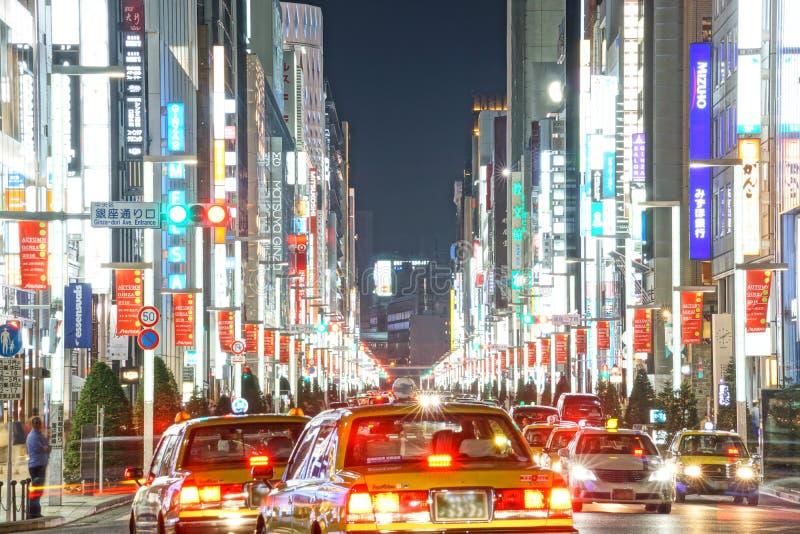 Εικόνα άποψης νύχτας Ginza στοκ φωτογραφία με δικαίωμα ελεύθερης χρήσης