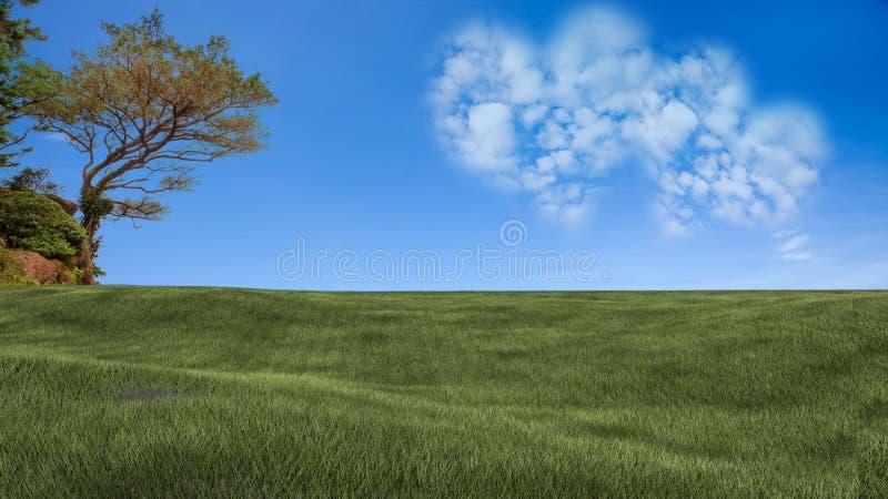Εικόνα ένα σύννεφο καρδιών στο μπλε ουρανό στοκ εικόνα με δικαίωμα ελεύθερης χρήσης