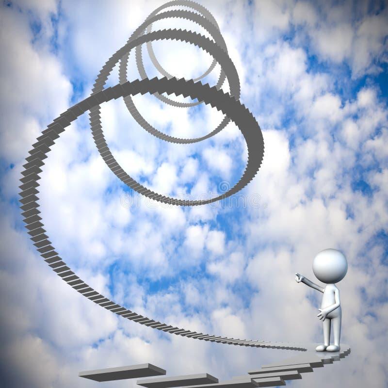 Εικόνα ένα σύννεφο καρδιών στο μπλε ουρανό στοκ εικόνες