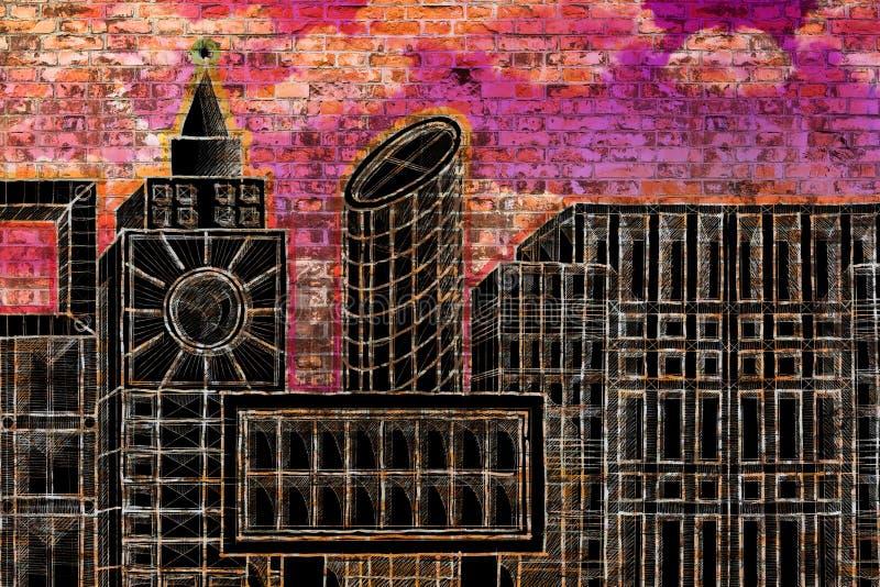 Εικόνα έννοιας κατοικίας με το χρωματισμένο ορίζοντα ενός σύγχρονου hypotheti στοκ εικόνα με δικαίωμα ελεύθερης χρήσης
