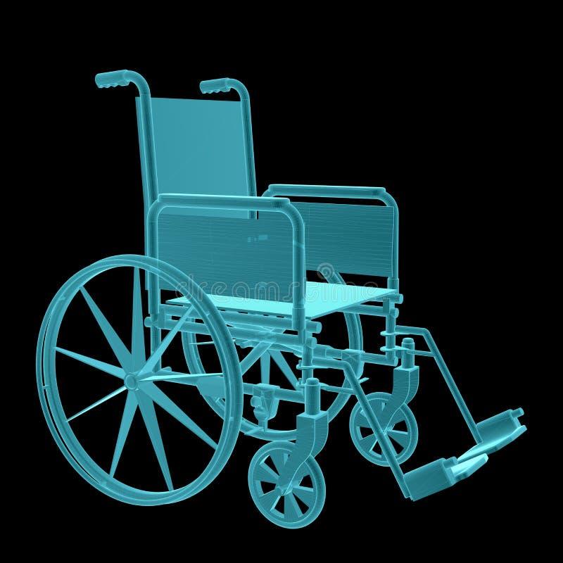 Εικόνα ακτίνας X της αναπηρικής καρέκλας απεικόνιση αποθεμάτων