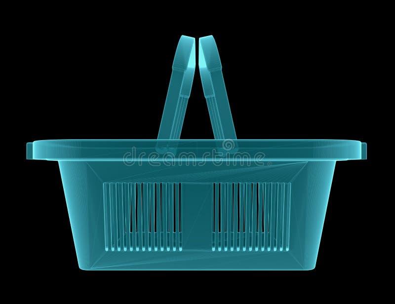 Εικόνα ακτίνας X του κενού καλαθιού αγορών διανυσματική απεικόνιση