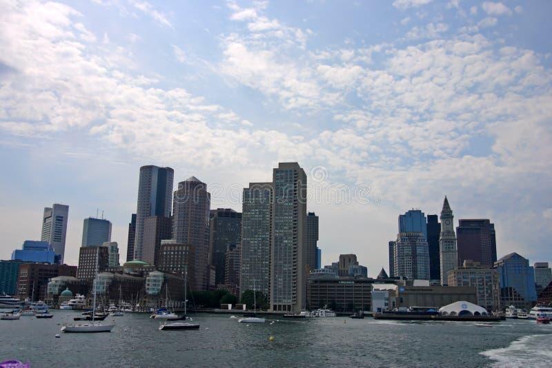 Εικόνα αποθεμάτων του ορίζοντα της Βοστώνης, εσωτερικό λιμάνι, ΗΠΑ στοκ εικόνα με δικαίωμα ελεύθερης χρήσης