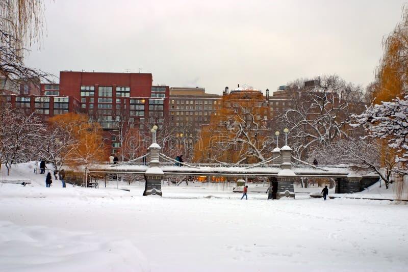 Εικόνα αποθεμάτων του χειμώνα της Βοστώνης στοκ φωτογραφία με δικαίωμα ελεύθερης χρήσης