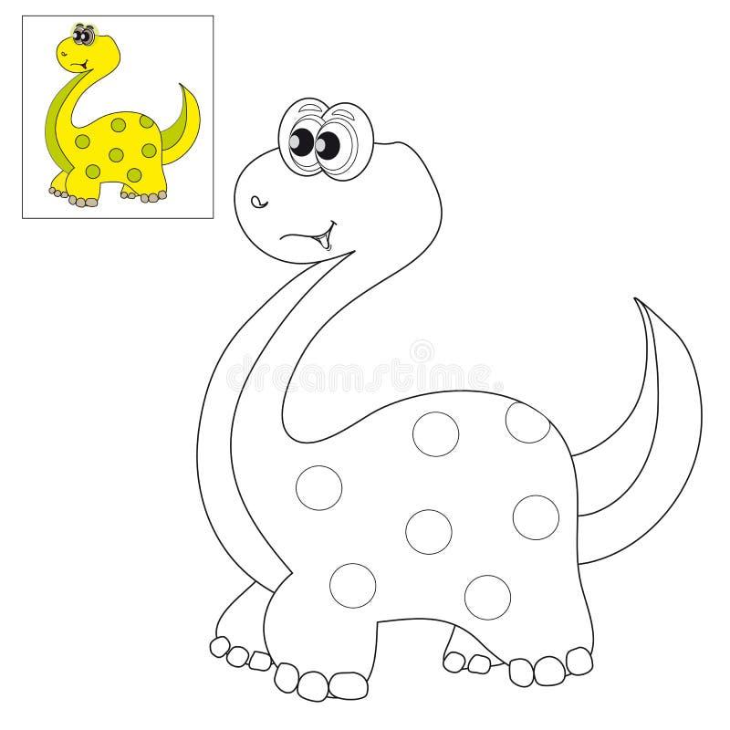 Εικόνα για το χρωματισμό ενός δεινοσαύρου απεικόνιση αποθεμάτων