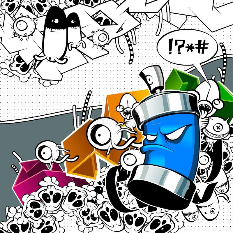εικόνα γκράφιτι παράξενη ελεύθερη απεικόνιση δικαιώματος