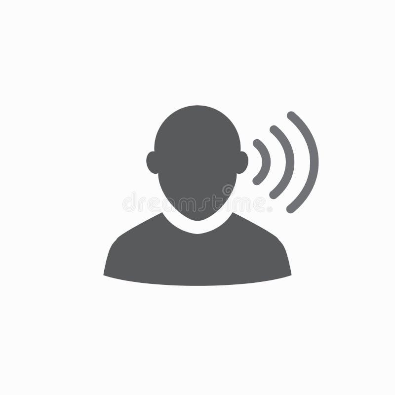 Εικόνα εικονιδίων περιλήψεων αυτιών και καναλιών αυτιών για την ακρόαση απεικόνιση αποθεμάτων