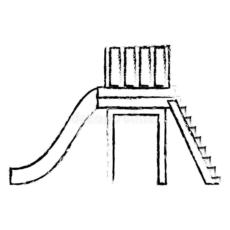 Εικόνα εικονιδίων παιδικών χαρών απεικόνιση αποθεμάτων