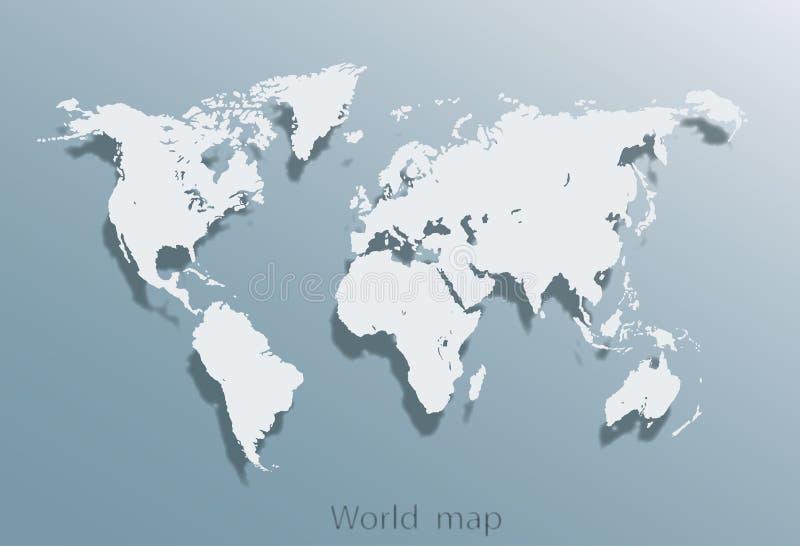Εικόνα ενός διανυσματικού παγκόσμιου χάρτη ελεύθερη απεικόνιση δικαιώματος