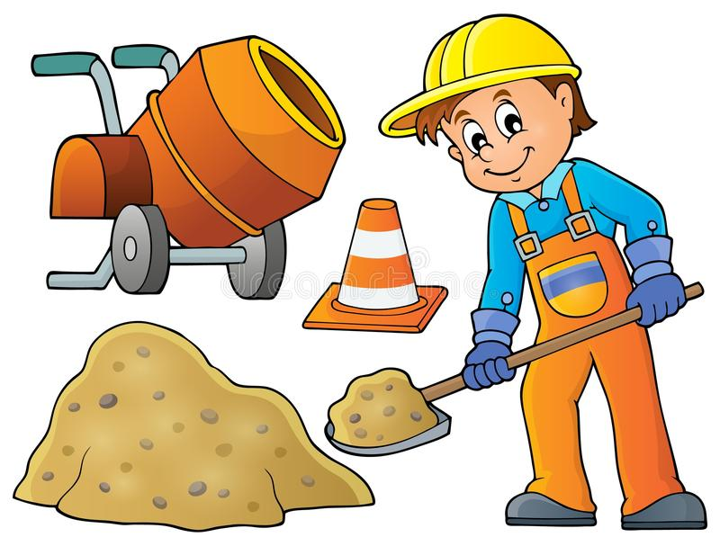 Εικόνα 5 θέματος εργατών οικοδομών απεικόνιση αποθεμάτων