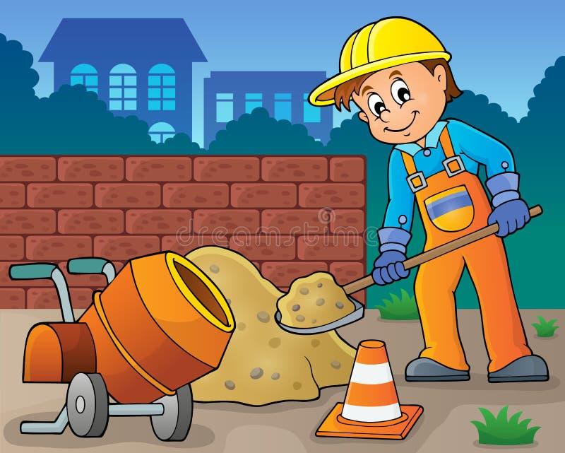 Εικόνα 6 θέματος εργατών οικοδομών απεικόνιση αποθεμάτων