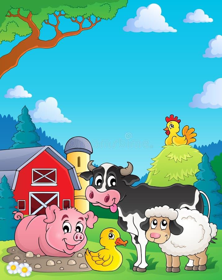 Εικόνα 4 θέματος ζώων αγροκτημάτων ελεύθερη απεικόνιση δικαιώματος