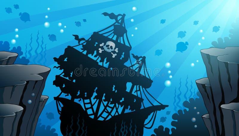 Εικόνα 1 θέματος ναυαγίου ελεύθερη απεικόνιση δικαιώματος