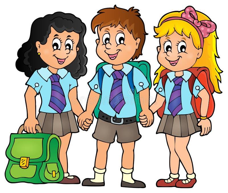 Εικόνα 3 θέματος σχολικών μαθητών ελεύθερη απεικόνιση δικαιώματος