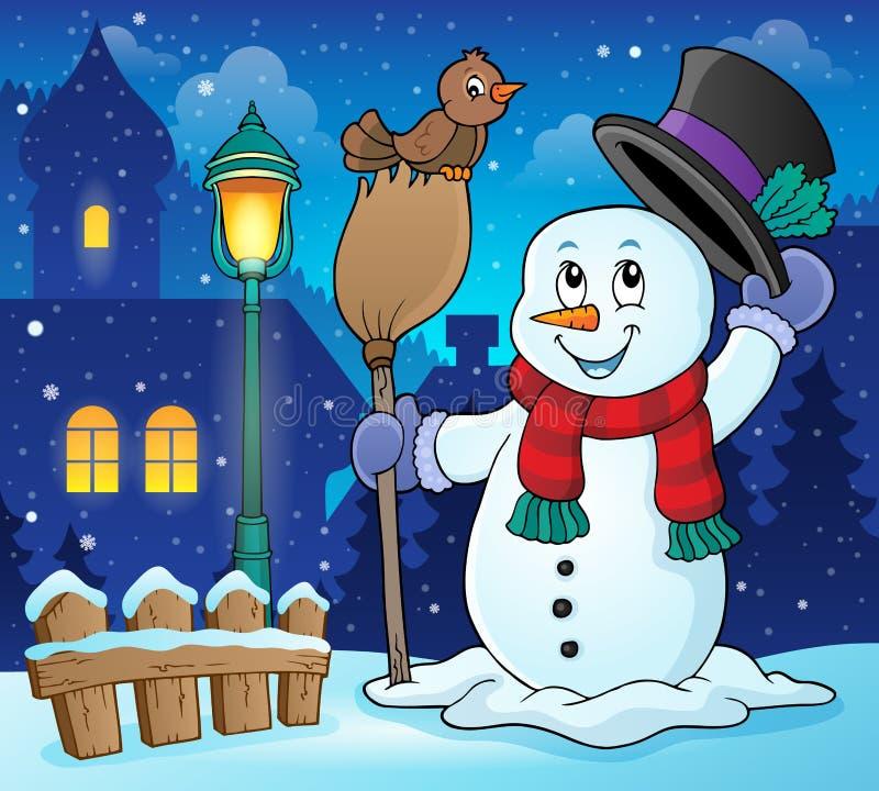 Εικόνα 3 θεμάτων χειμερινών χιονανθρώπων απεικόνιση αποθεμάτων
