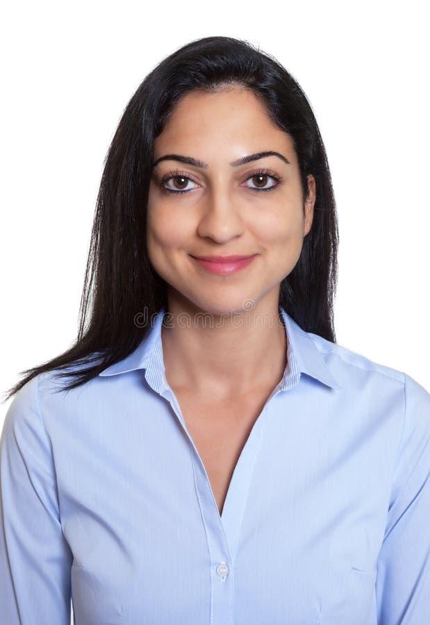 Εικόνα διαβατηρίων μιας χαμογελώντας τουρκικής επιχειρηματία στοκ φωτογραφία με δικαίωμα ελεύθερης χρήσης