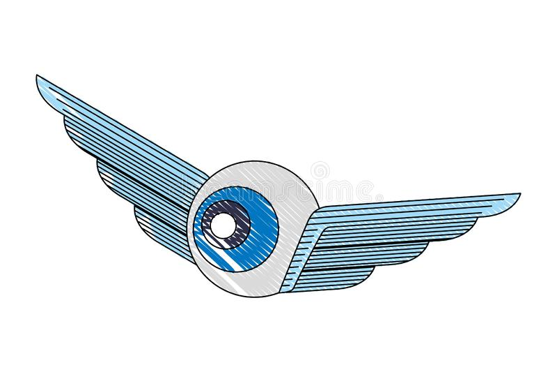 Εικόνα ιδέας σχεδίου ματιών φτερών δημιουργικότητας ελεύθερη απεικόνιση δικαιώματος