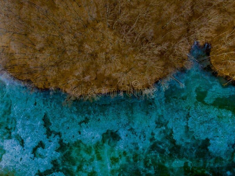 Εικόνα κηφήνων μιας λίμνης στοκ εικόνα