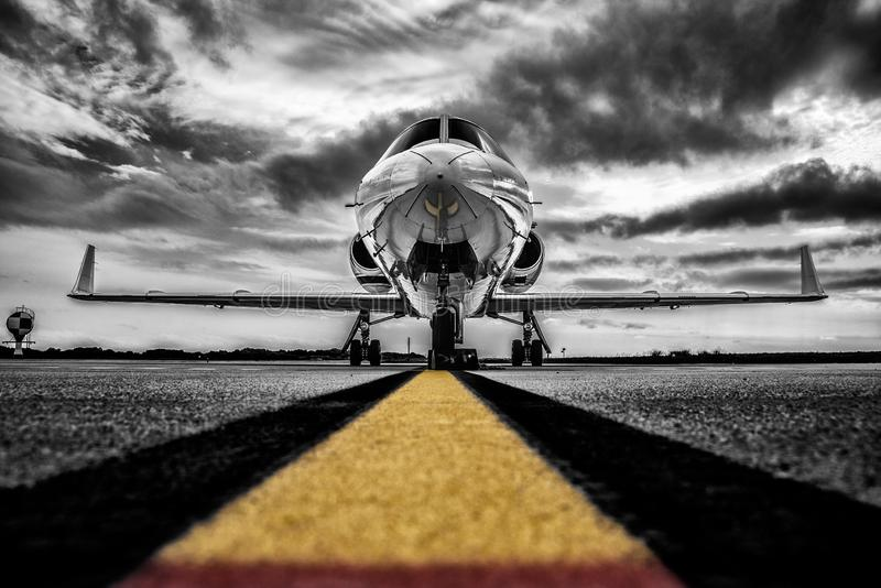 Εικόνα κλειδιού χρώματος ενός επαγγελματικού jet στοκ φωτογραφία με δικαίωμα ελεύθερης χρήσης
