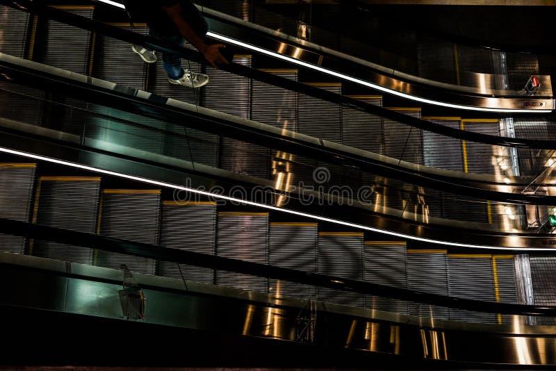 Εικόνα κυλιόμενων σκαλών στοκ φωτογραφία