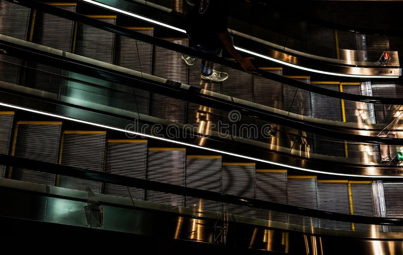 Εικόνα κυλιόμενων σκαλών στοκ εικόνες με δικαίωμα ελεύθερης χρήσης