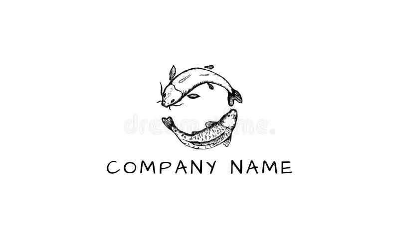 Εικόνα λογότυπων αλιείας διανυσματική απεικόνιση αποθεμάτων