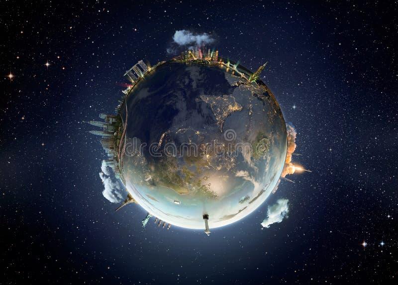 Εικόνα μεταφοράς του γήινου πλανήτη μας στοκ φωτογραφία με δικαίωμα ελεύθερης χρήσης