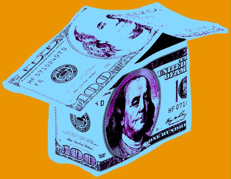 Εικόνα με το σπίτι δολαρίων απεικόνιση αποθεμάτων